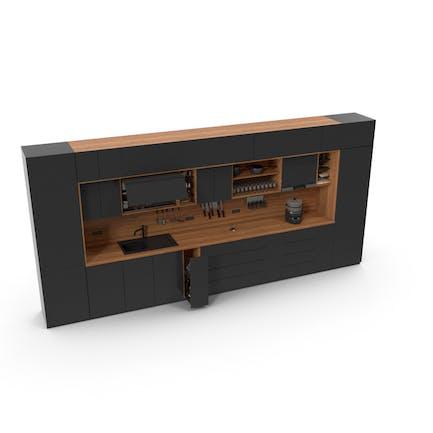 Küchenmöbel-Set dunkel