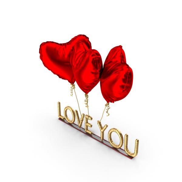 Love You Balloons