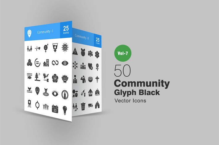 Thumbnail for 50 Community Glyph Icons