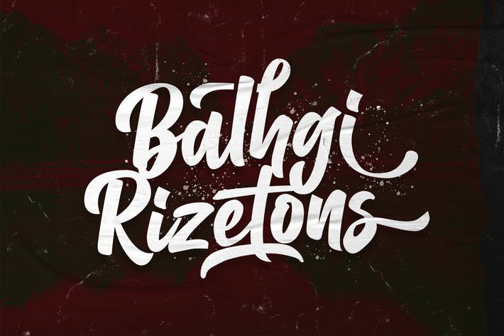 Thumbnail for Balhgi Rizetons - Fuente de escritura en negrita