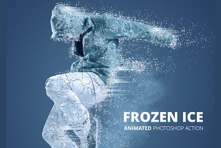Frozen Ice Gif Animated Photoshop Action