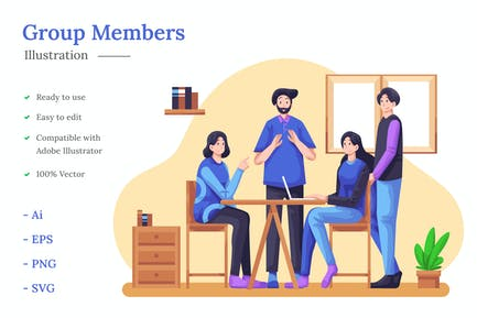 Group Members Illustration