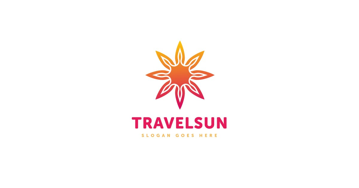 Download Travel Sun Logo Vector Template by Pixasquare