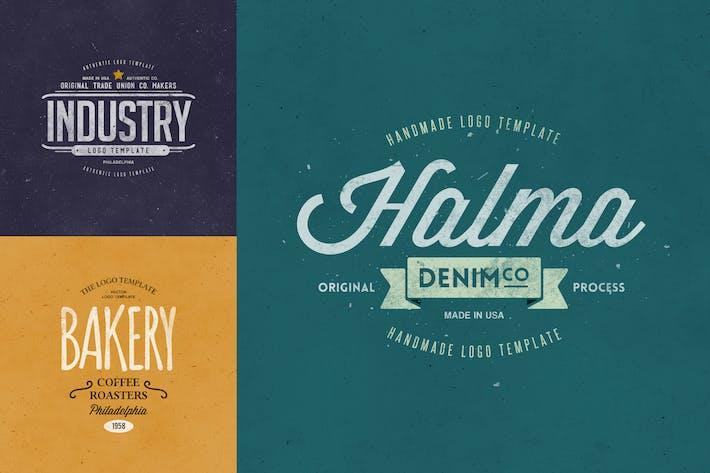 Thumbnail for Retro Logo Templates V.06