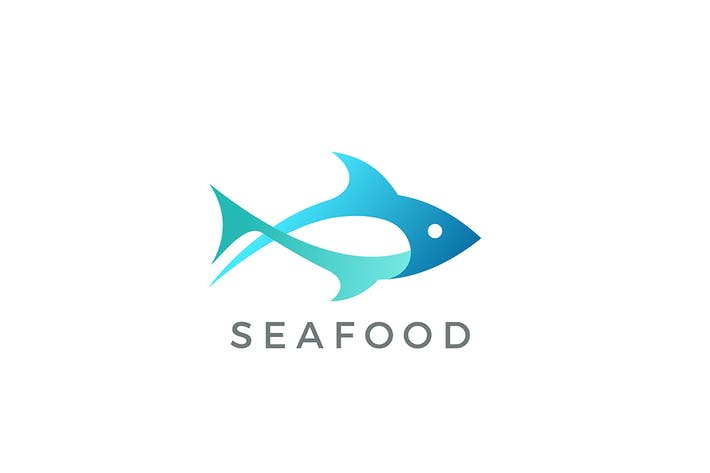 Thumbnail for Tuna Fish Seafood Logo