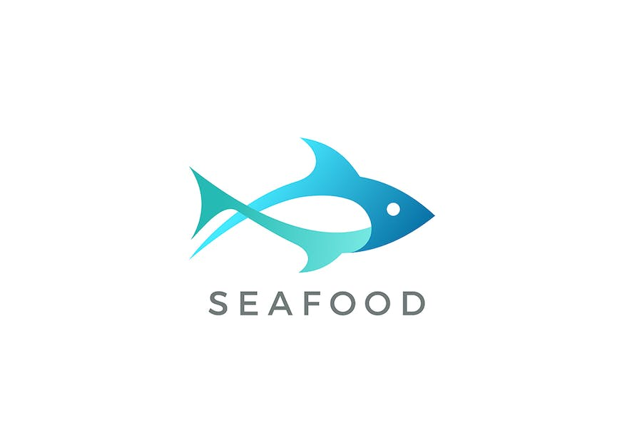Tuna Fish Seafood Logo