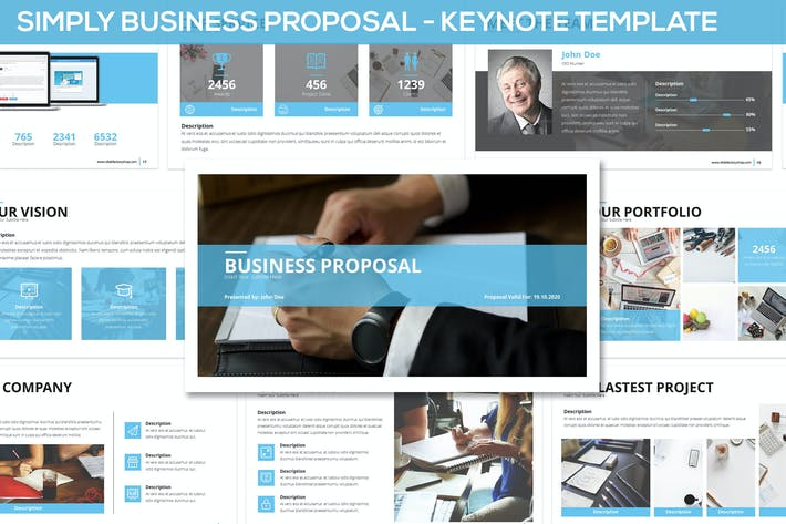 Thumbnail for Simply Business Proposal - Keynote Template