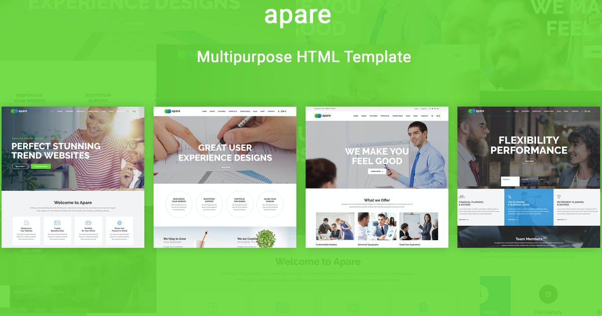 Download Apare - Responsive Multipurpose HTML5 Template by codelayers