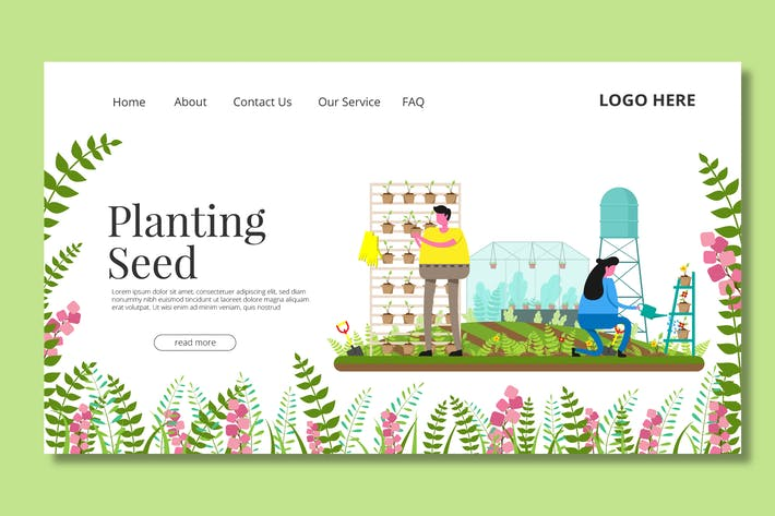 Thumbnail for Seeding Garden - Landing Page