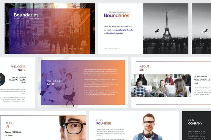 Thumbnail for Boundaries Creative Agency Google Slide Template