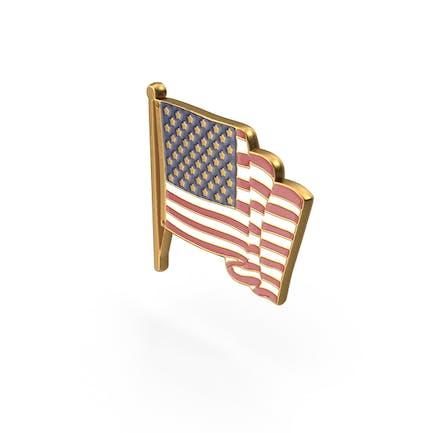 Amerikanische Flagge Pin