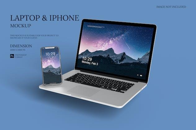 Laptop & Smartphone - mockup