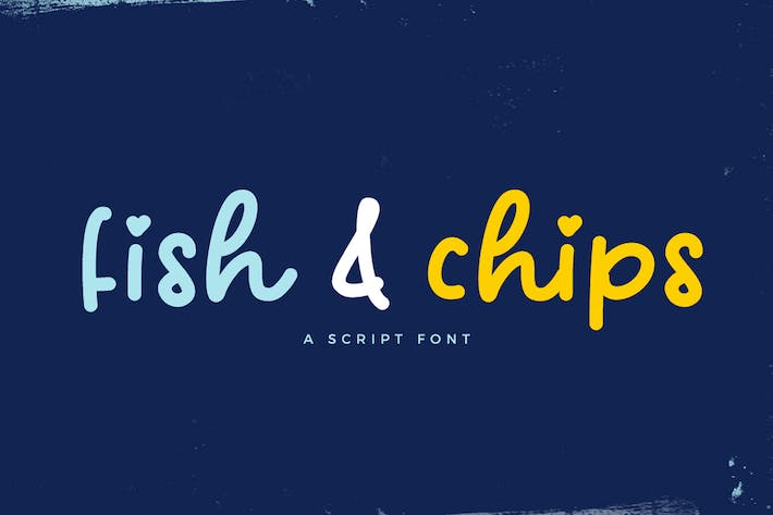 Thumbnail for Fish and Chips Script Font