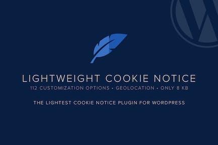 Aviso sobre cookies ligeras