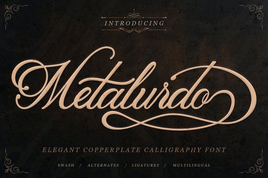 Metalurdo - Fuente de caligrafía elegante