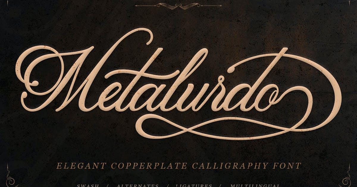 Download Metalurdo - Elegant Calligraphy Font by kotakkuningstudio