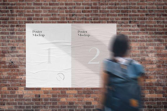 Thumbnail for Wrinkled Street Poster Mockup