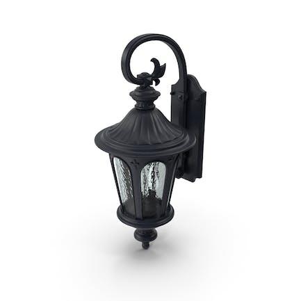 Linterna de pared para exteriores, color negro