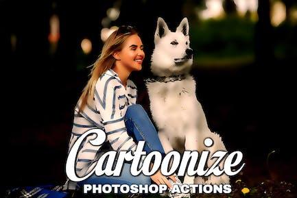 Картунизация действия Photoshop