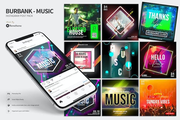 Thumbnail for Burbank - Instagram Post Pack HR