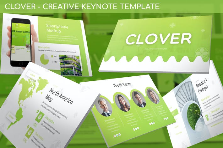 Thumbnail for Clover - Creative Keynote Template