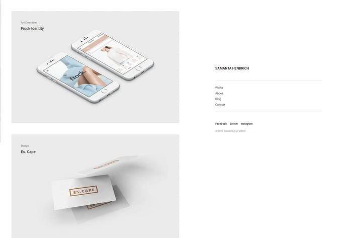 Thumbnail for Samanta - Minimal Portfolio WordPress Theme