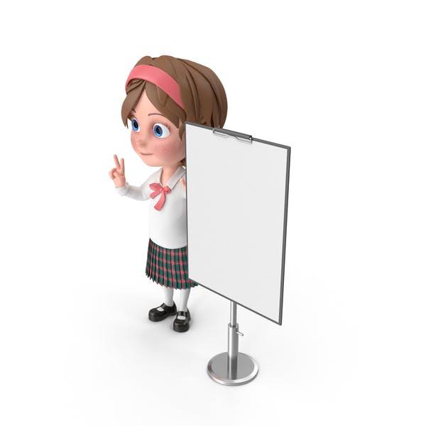 Thumbnail for Cartoon Girl Presenting