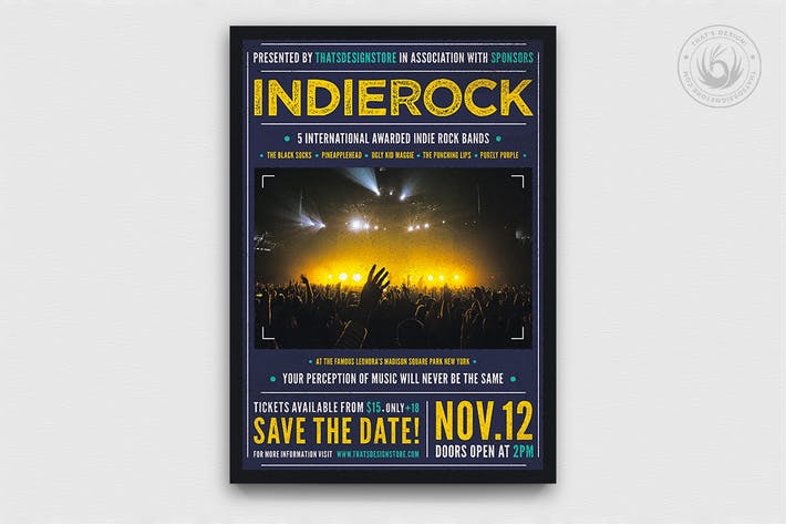 Thumbnail for Indie Rock Flyer Template V1