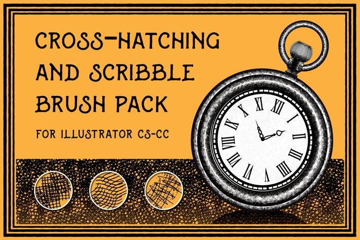 Thumbnail for Cross-Hatching and Scribble Brush Pack