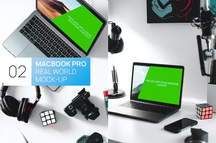 Thumbnail for Two New MacBook Pro Real World Mock-ups