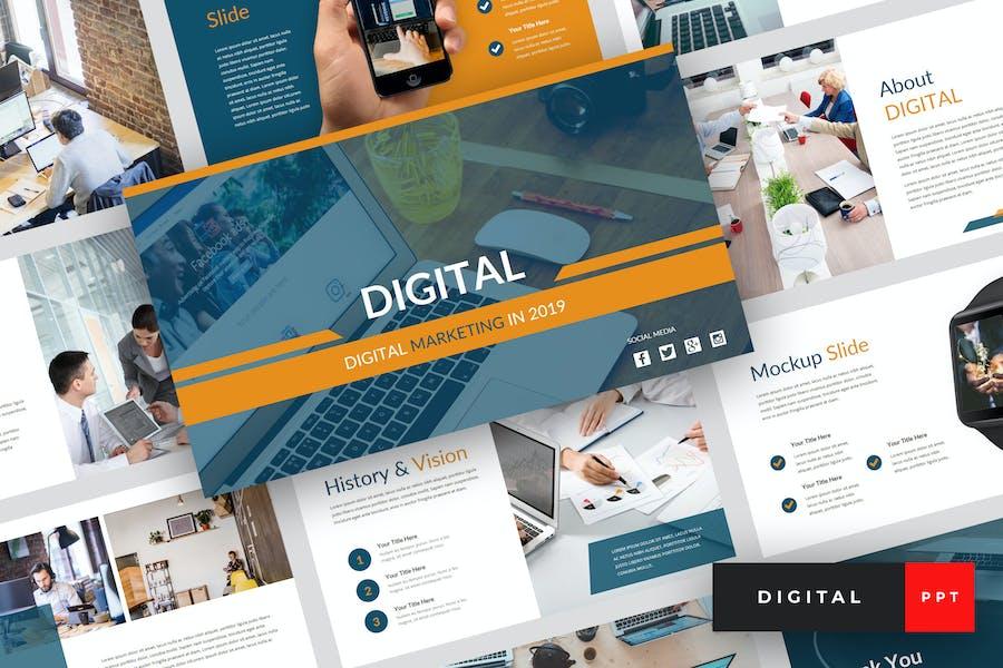 Digital - Digital Marketing PowerPoint Template