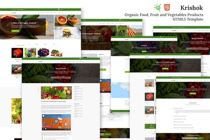 Krishok - Organic Food HTML5 Template