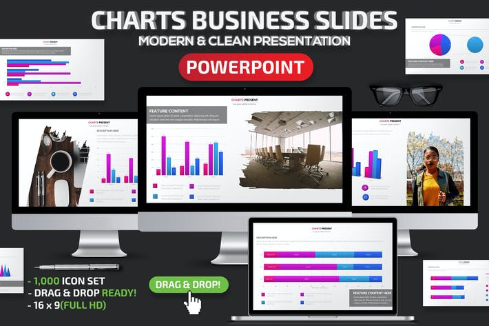 Thumbnail for Charts Business Powerpoint Slides