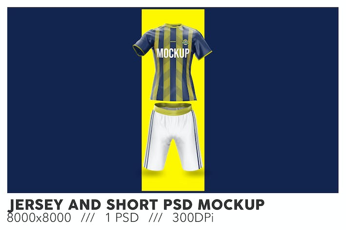 Jersey and Short PSD Mockup