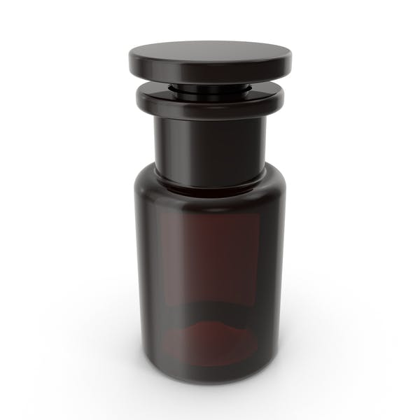 Brown Glass Cosmetic Bottle