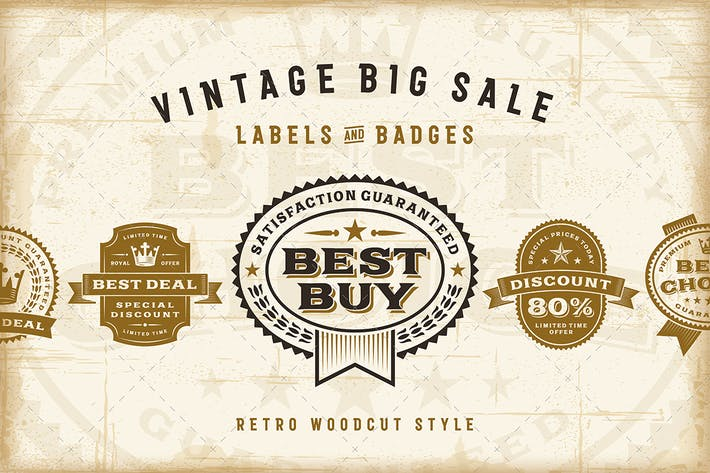 Thumbnail for Vintage Sale Labels Set