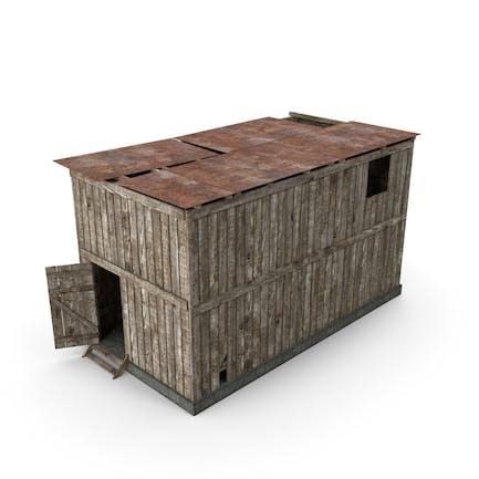 Schuppen aus Holz