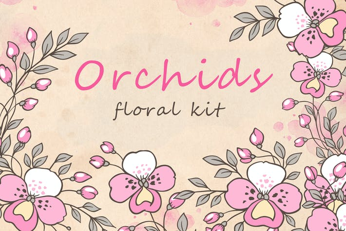 Thumbnail for Design Elements with Orchids