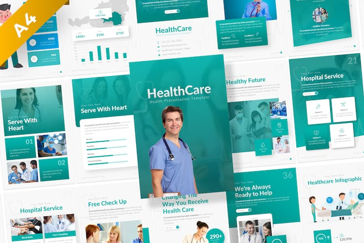 HealthCare Medical Potrait Presentation Template