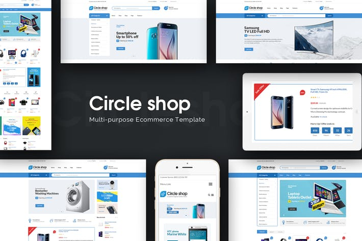 Thumbnail for CircleShop - Отзывчивый Magento Тема