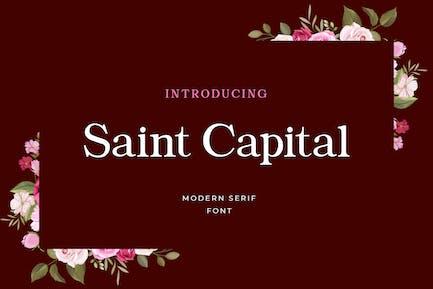Saint Capital Modern Con serifa Tipo de letra