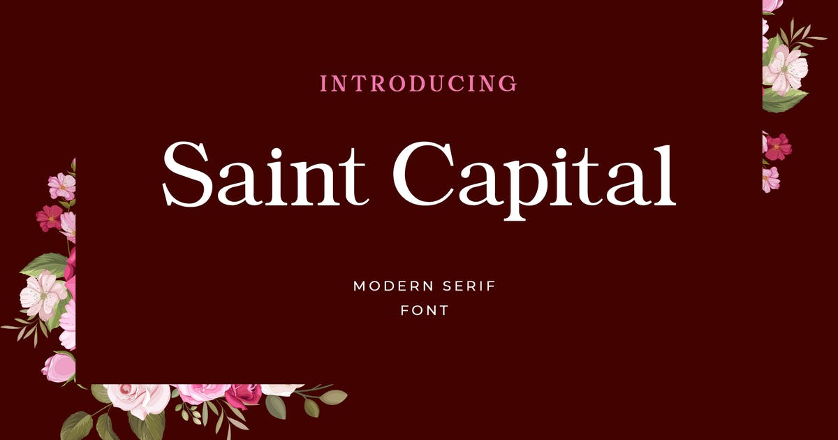 Download Saint Capital Modern Serif Typeface by uicreativenet