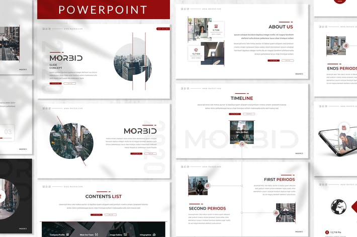 Thumbnail for Morbid - Business Powerpoint Template