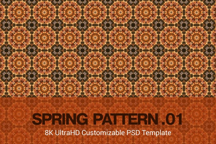 Thumbnail for 8K UltraHD Custom Seamless Spring Pattern Backgrou