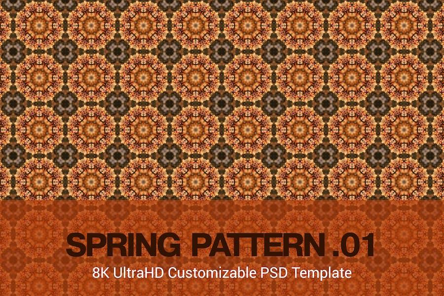 8K UltraHD Custom Seamless Spring Pattern Backgrou