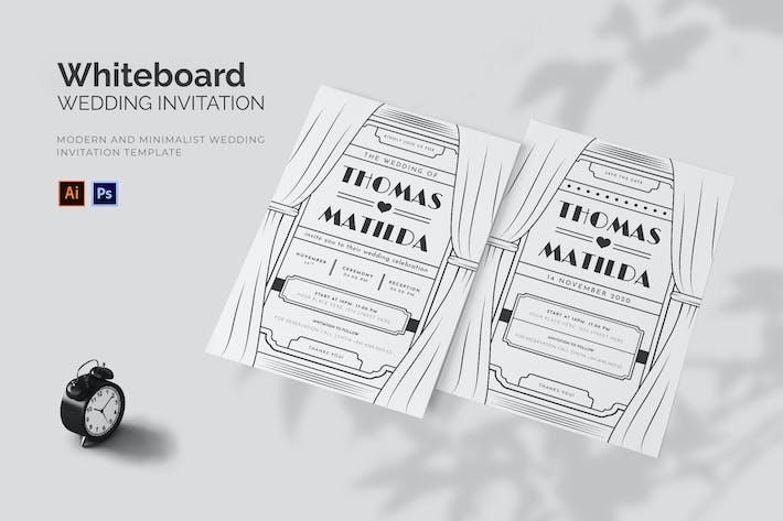 Thumbnail for Whiteboard Theme - Wedding Invitation