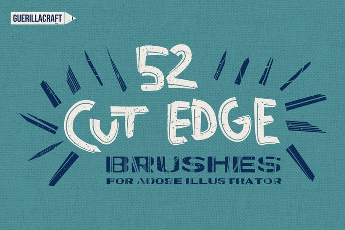 Cover Image For Cut Edge Brushes for Adobe Illustrator