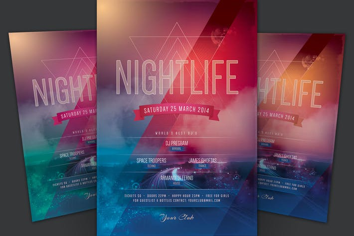 Cover Image For Nightlife Flyer