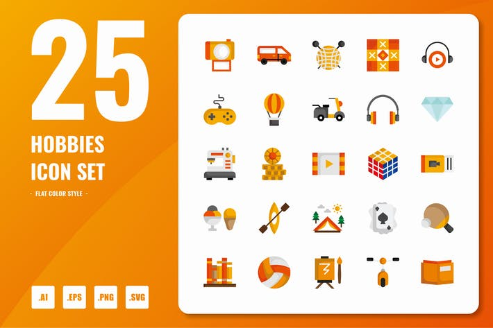 Thumbnail for Hobbies Flat Icons