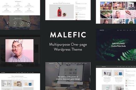 Malefic - Eine Seite Responsive WordPress Thema